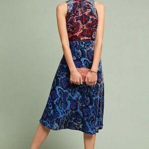 Anthropologie Dresses - NWT Anthropologie Halter Neck Velvet Dress SZ-12